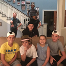 The Beckhams on the set of Modern Family. Image: Victoria Beckham/Instagram
