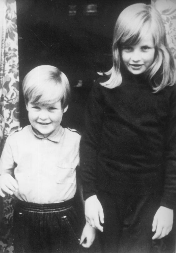1968: Lady Diana Spencer with her brother Charles, Viscount Althorp, (Earl Spencer) at their home in Berkshire. (Photo by Central Press/Getty Images)