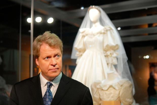 The brother of the late Princess Diana, Charles Spencer, poses at a preview of the traveling