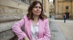 Alexandra Shulman, novelist and editor in chief of British Vogue, at the FT Weekend Oxford Literary Festival on April 1, 2017 in Oxford, England. (Photo by David Levenson/Getty Images)