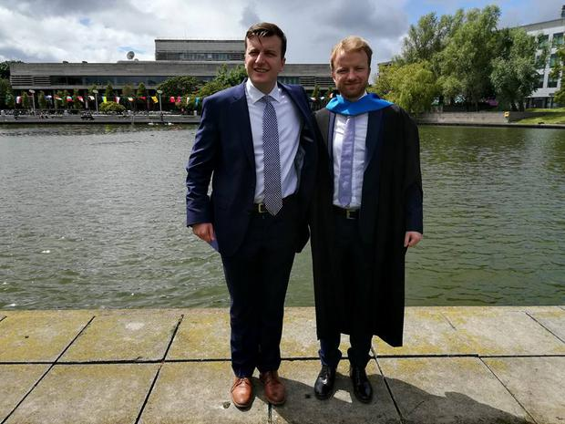 Cathal (left) pictured with his brother Niall O'Reilly
