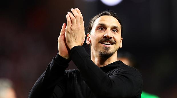 Zlatan Ibrahimovic of Manchester United applauds the supporters following the UEFA Europa League Final match between Ajax and Manchester United at Friends Arena on May 24, 2017 in Stockholm, Sweden. (Photo by Chris Brunskill Ltd/Getty Images)