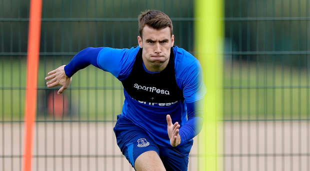 PICTURES: Seamus Coleman back running four months after double leg break against Wales