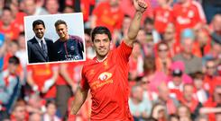 Liverpool became a selling club when Suarez left and (inset) Neymar unveiled at PSG
