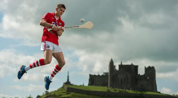 Bord Gais Energy #HurlingToTheCoreAmbassador Alan Cadogan - pictured at a media day at the Rock of Cashel - has played an important part in Cork's run to the All-Ireland SHC semi-final. Photo: Diarmuid Greene /Sportsfile