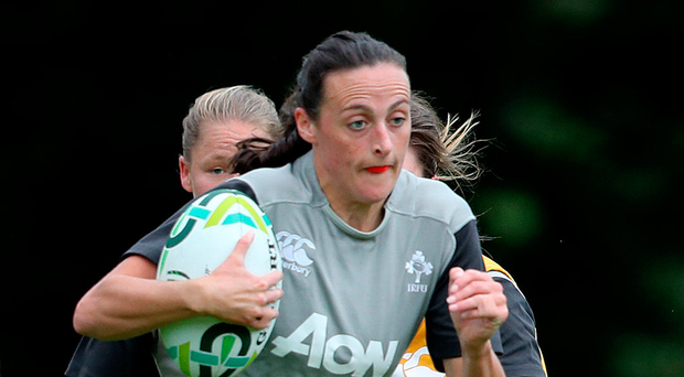 Hannah Tyrrell going through her paces during training at Belfield yesterday ©INPHO/Dan Sheridan