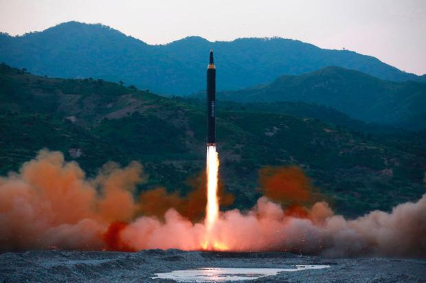 This file photo distributed by the North Korean government shows the