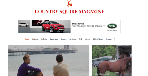 The website of Country Squire Magazine- with a prominent Land Rover