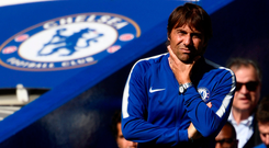 Chelsea manager Antonio Conte watches on during yesterday's shock defeat. Photo: Reuters