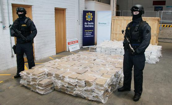 BUST: This drugs raid netted a €37m haul. Photo: Stephen Collins