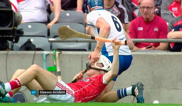 Gleeson incident during the first half.