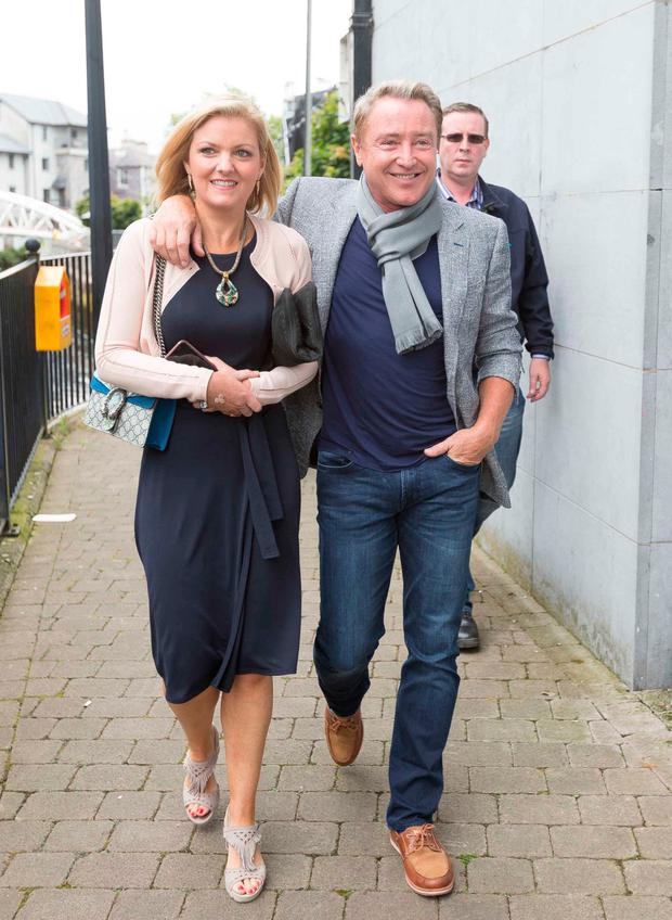 Michael Flatley with his wife Niamh at the opening of Fleadh Cheoil 2017 in Ennis. Photo: Eamon Ward