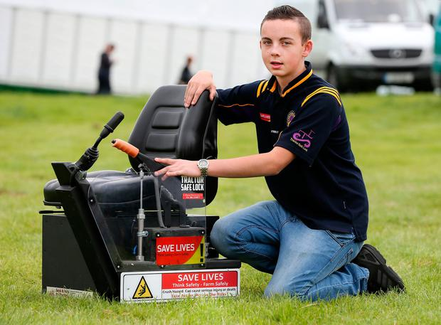Jack Nagle who won best inventions in the Agriculture and Student competitions. Photo: Gerry Mooney