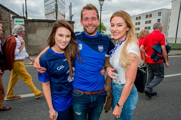 Amy Waddell, Cathal Herlihy and Katie Waddell were also at the match. Photo: Doug O'Connor