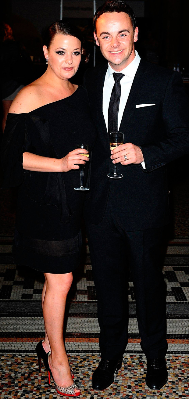 Ant McPartlin and his wife Lisa Armstrong, who helped put him on the road to recovery. Photo: PA Wire