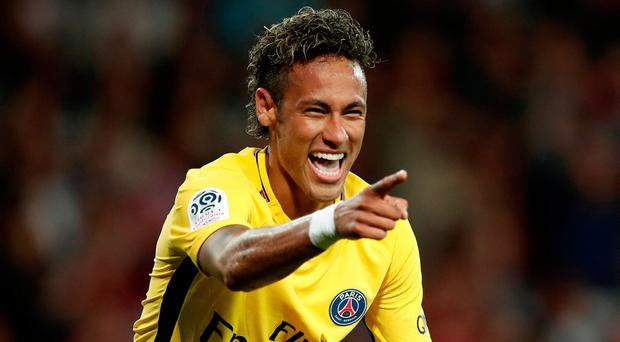 Paris Saint-Germain's Neymar celebrates. Photo: Reuters