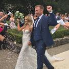 Stephen Ferris weds Laura McNally. Picture: Belfast Telegraph