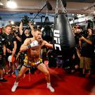 Conor McGregor works out at the UFC Performance Center in Las Vegas