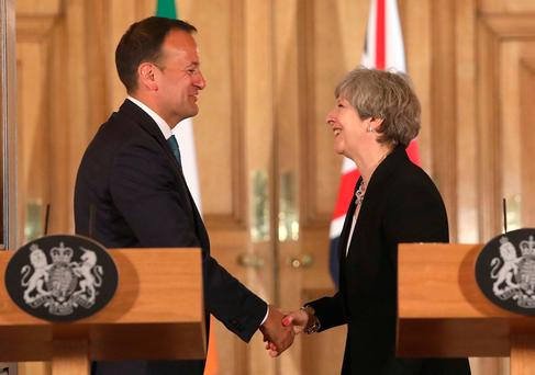 Taoiseach Leo Varadkar has his hands full dealing with Prime Minister Theresa May's Brexit plans. Photo: REUTERS
