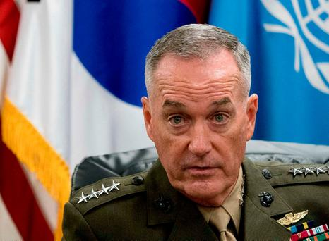 Joint Chiefs chairman General Joseph Dunford in Seoul. Photo: AP