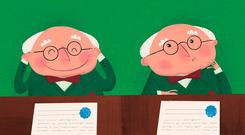 Illustrations from 'The President's Glasses'