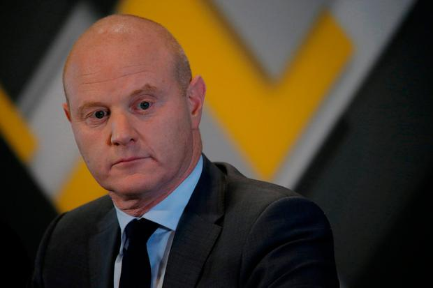 Commonwealth Bank (CBA) CEO Ian Narev appears at a news conference announcing the bank's full year results in in Sydney, Australia