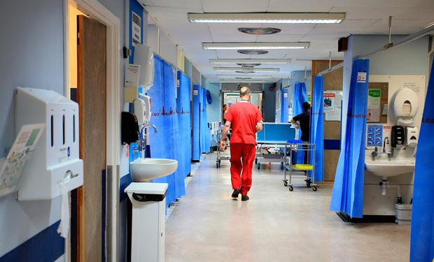 File photo of a hospital ward in the UK. Photo: Peter Byrne/PA Wire