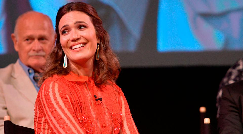 Mandy Moore speaks onstage at FYC Panel Event for 20th Century Fox and NBC's