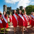 Rose of Tralee Contestants Derby Rose Sarah Kelly, Florida Rose Elizabeth Marnice during a introduction of the 65 International Roses hoping to make it through to the 2017 International Rose Television Selections on RTE One at Malahide Castle, Dublin. Photo: Gareth Chaney Collins