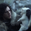 Kit Harrington, as Jon Snow, with his direwolf Credit: HBO