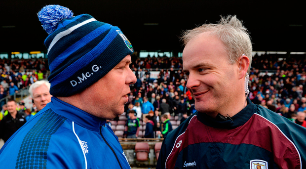 Derek McGrath and Micheál Donoghue will come face-to-face again in next month's hurling final – 25 years since they first squared off in a Croke Park final. Photo by Piaras Ó Mídheach/Sportsfile