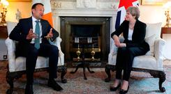 How to solve a problem like Theresa? Well, no more lecturing Britain on where it's going wrong, as Taoiseach Leo Varadkar seemed to do. Photo credit: Philip Toscano/PA Wire