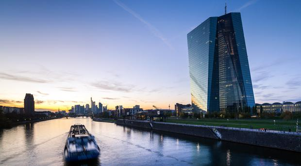 European Central Bank headquarters in Frankfurt, Germany