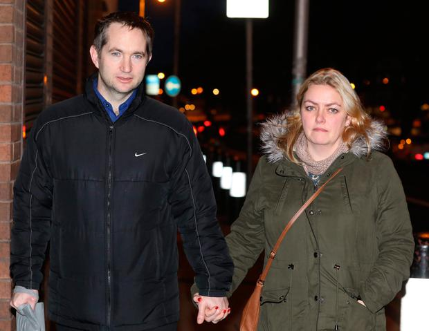 Shane and Antoinette O'Reilly had to leave their Saggart home because of 'toxic' mould. Picture: Collins