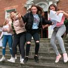 Tara Montgomery,Victoria Brunton,Clontarf,Hannah Smith ,Clontarf and Sarah Murray,Rathfarnam with Carolyn Mc Carthy ,Castleknock all 18 pictured after they collected their Leaving cert results from Loreto on the Green.