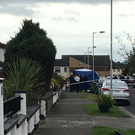 The scene at Bulbutcher Road in Ballymun