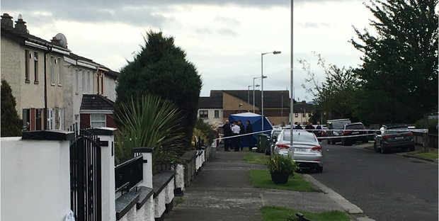 The scene at Bulbutcher Drive in Ballymun