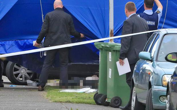 The scene of a shooting in Dublin housing estate