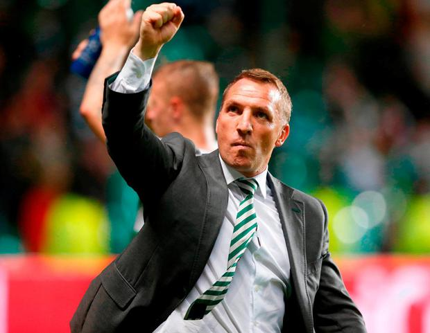Celtic manager Brendan Rodgers. Photo: Jeff Holmes/PA Wire