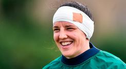 Now back in her more familiar No 8 position, Fitzpatrick has a huge task on her hands in trying to get Ireland on the front foot, while at the same time quelling the attacking threat of N'Diaye who is a very powerful ball carrier. Photo: David Maher/Sportsfile
