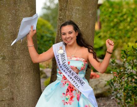 Monaghan Rose Maria Murnaghan celebrates after opening her results in Tralee. Photo: Domnick Walsh