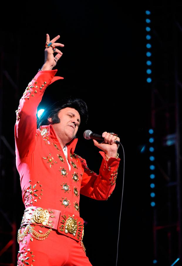 An Elvis tribute act in Memphis last weekend. Photo: AFP/Getty Images
