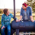 Barbecue buddies: Shauna Guinn (left) and business partner Samantha Evans