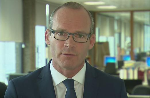 Simon Coveney pictured on last night's Channel 4 news programme