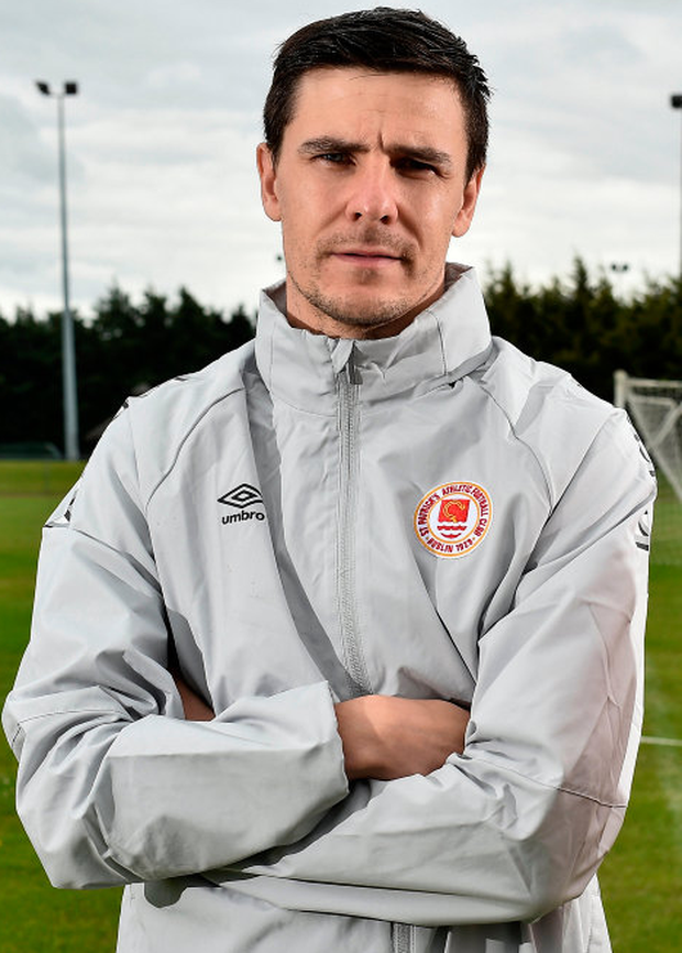 Owen Garvan is set to make his home debut for St Patrick's Athletic in tonight's Premier Division clash with Finn Harps. Photo: Sportsfile