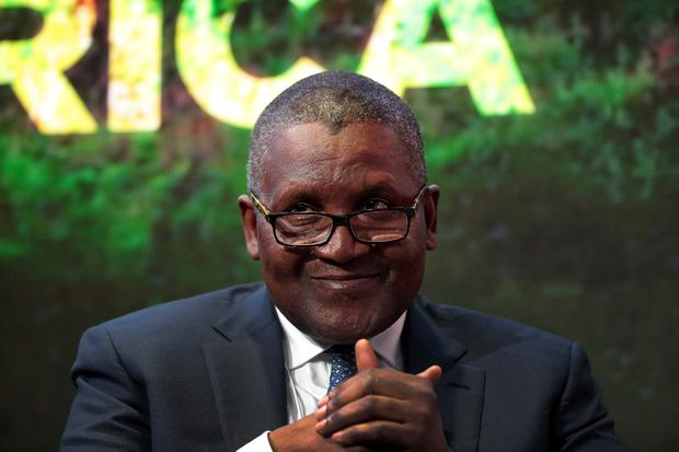 Aliko Dangote, who owns the Dangote Group. Photo: Bloomberg