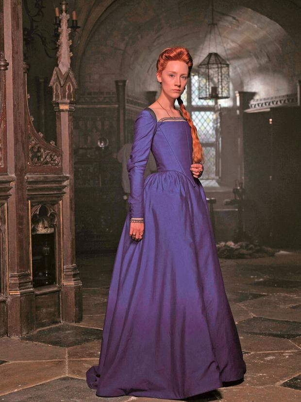 Saoirse Ronan plays the title role of Mary, Queen Of Scots in the forthcoming film Photo: Universal Pictures/PA