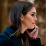 Hope Hicks arrives at Trump Tower in New York. A White House official said Ms Hicks will serve temporarily as White House communications director, alongside the press secretary Sarah Huckabee Sanders. Photo: AP