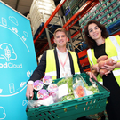 Robert Viljoen, business development manager, Ricoh Ireland and Aoibheann O'Brien, general manager, FoodCloud