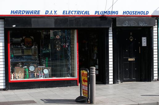 Knives and hatchets on sale in a hardware shop on Dorset Street, in Dublin city centre. Picture credit; Damien Eagers